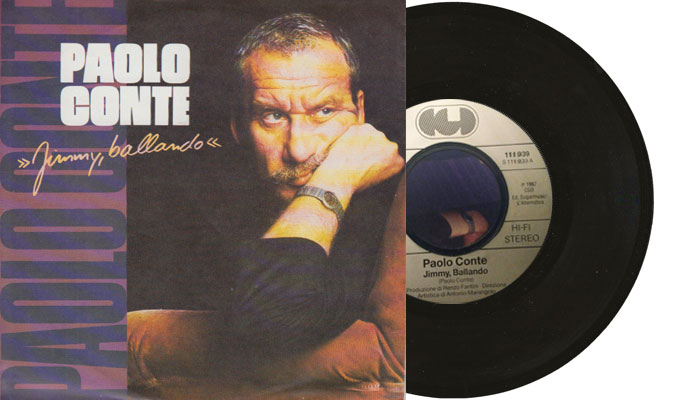 """Paolo Conte - Jimmy, ballando, 1987 7"""" single"""