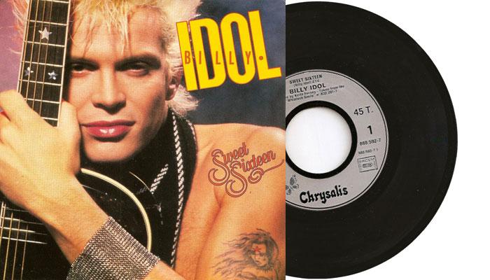 "Billy Idol - Sweet Sixteen - 7"" viny single"