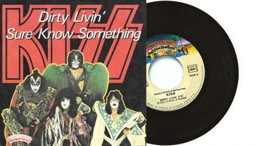 """Kiss - Dirty Livin' / Sure Know Something 7"""" single France"""