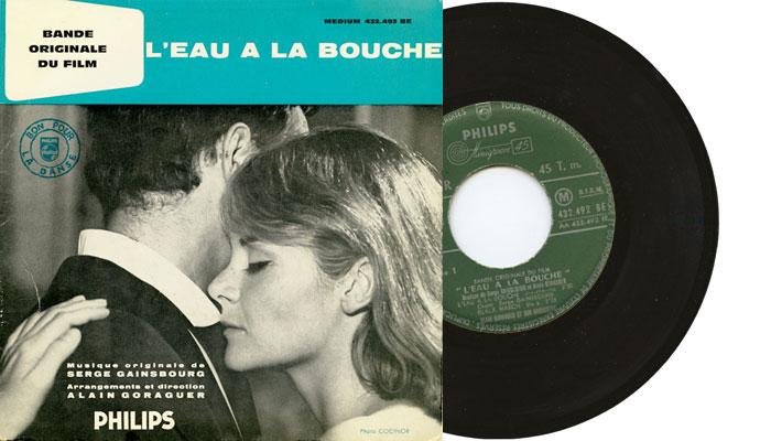 """Serge Gainsbourg - L'eau à la bouche, 7"""" EP single"""