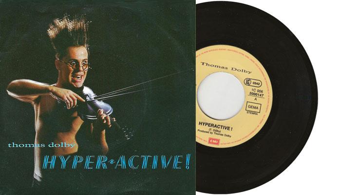 "Thomas Dolby - Hyperactive 7"" single"