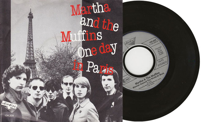 """Martha and the Muffins - One day in Paris - 7"""" vinyl single"""