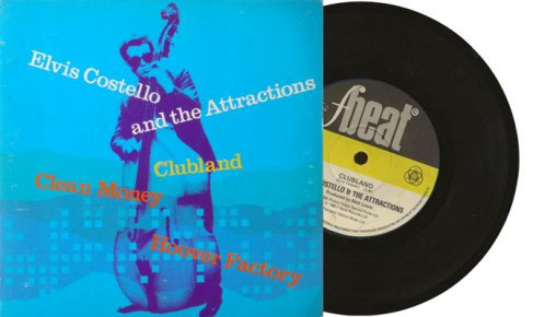 """Elvis Costello & The Attractions - Clubland - 7"""" vinyl single"""