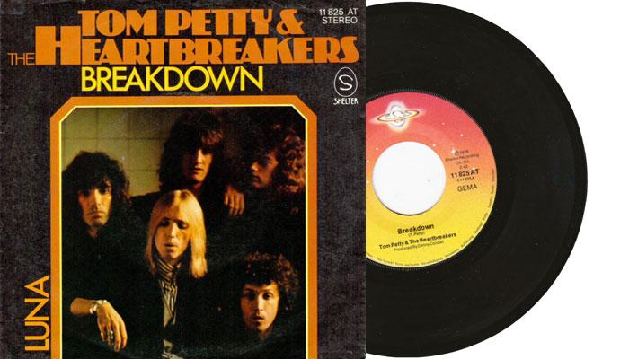 """Tom Petty & The Hearbreakers - Breakdown - 7"""" vinyl single, germany"""