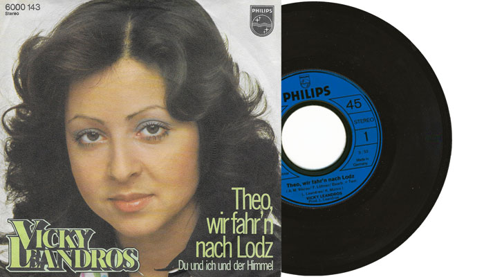 "Vicky Leandros - Theo wir fahr'n nach Lodz - 7"" vinyl single"