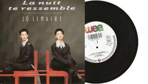 """Jo Lemaire - La nuit te ressemble - 7"""" vinyl single 1990"""