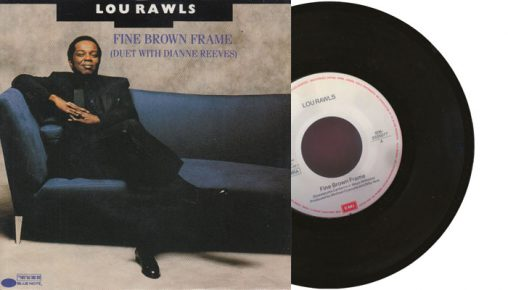 "Lou Rawls (with Dianne Reeves) - Fine Brown Frame - 1990 7"" vinyl single"