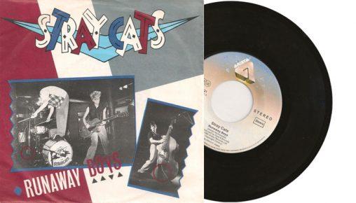 """Stray Cats - Runaway Boys - 1980 7"""" vinyl single"""