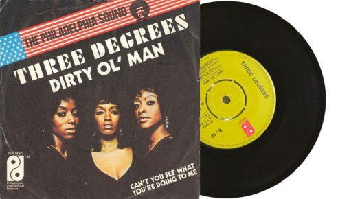 "The Three Degrees - Dirty Ol' Man - 1973 7"" vinyl single"