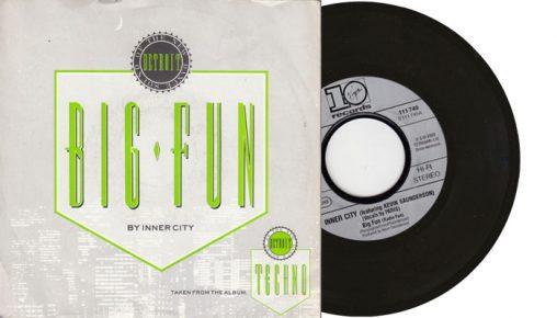 "Inner City - Big Fun - 7"" vinyl single from 1988"