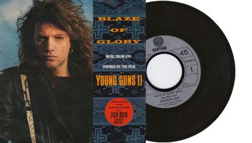 """Jon Bon Jovi - Blaze of Glory - 1990 7"""" vinyl single"""