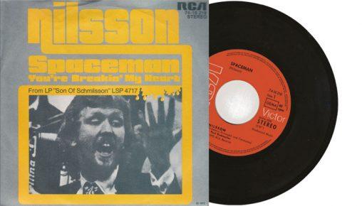"Harry Nilsson - Spaceman : You're breaking my heart - 1872 7"" vinyl single"