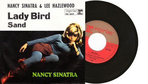 "Nancy Sinatra & Lee Hazlewood - Lady Bird / Sand - 7"" vinyl single from 1968"