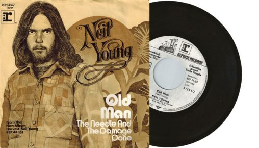 """Neil Young - Old Man / The Needle and the Damage Done - 1972 7"""" vinyl single"""